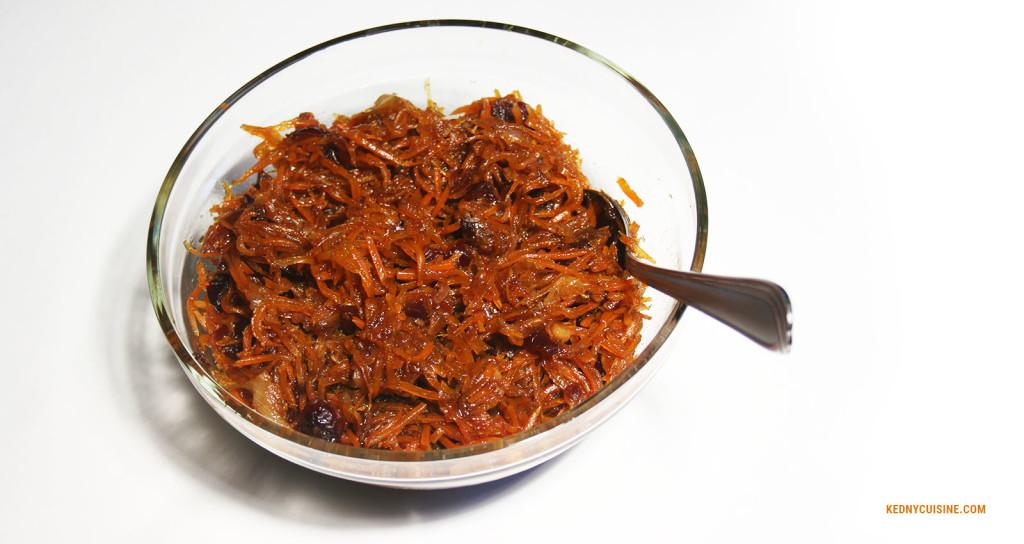 Chutney aux carottes et canneberges