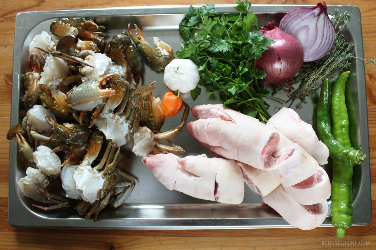 Lalo de pattes de porc et crabe - KC 4