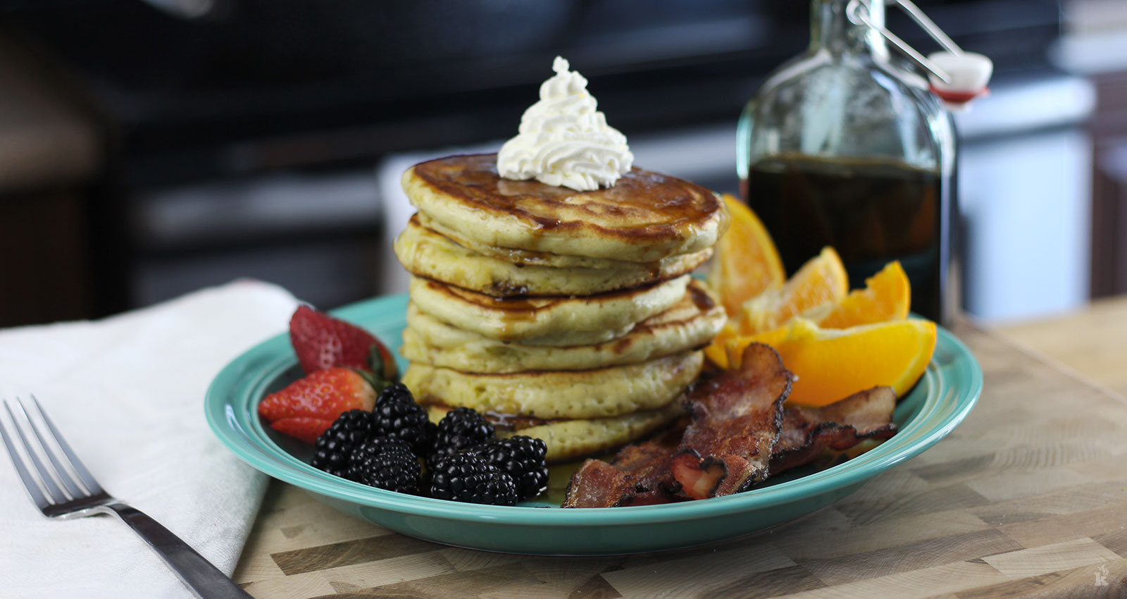 Pancake style gâteau Haïtien