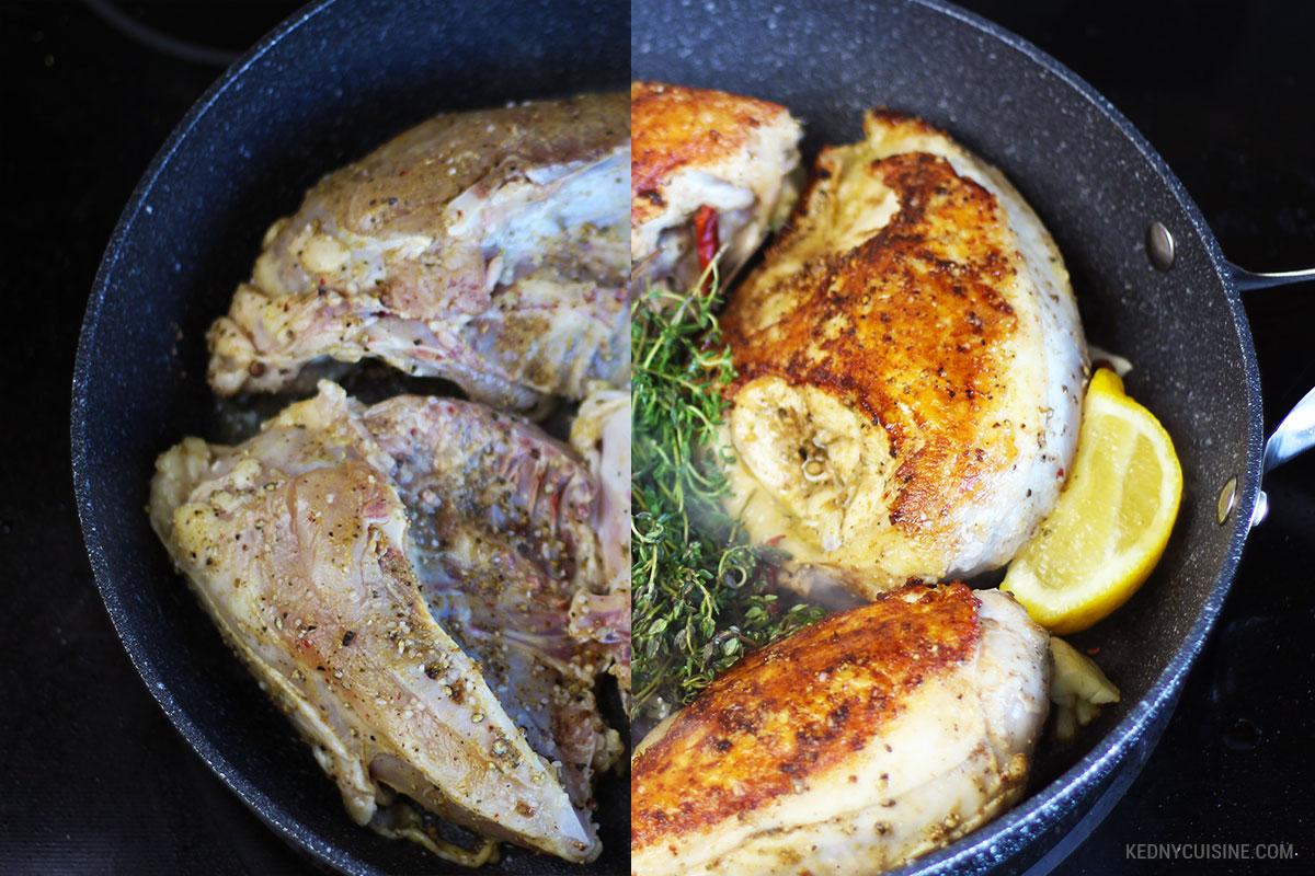 Poitrine de poulet rôtie et salade de couscous ensoleillée 5