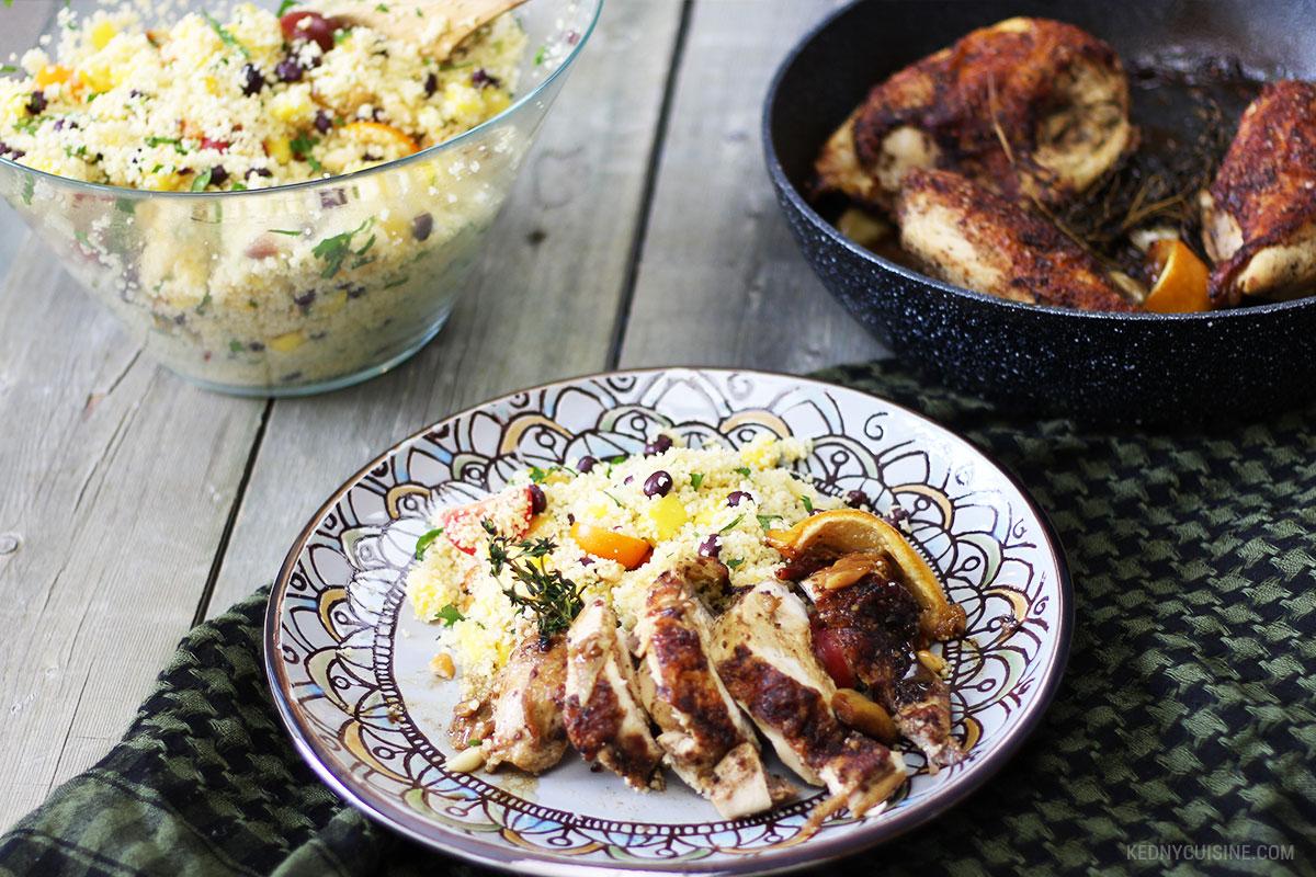 Poitrine de poulet rôtie et salade de couscous ensoleillée 7