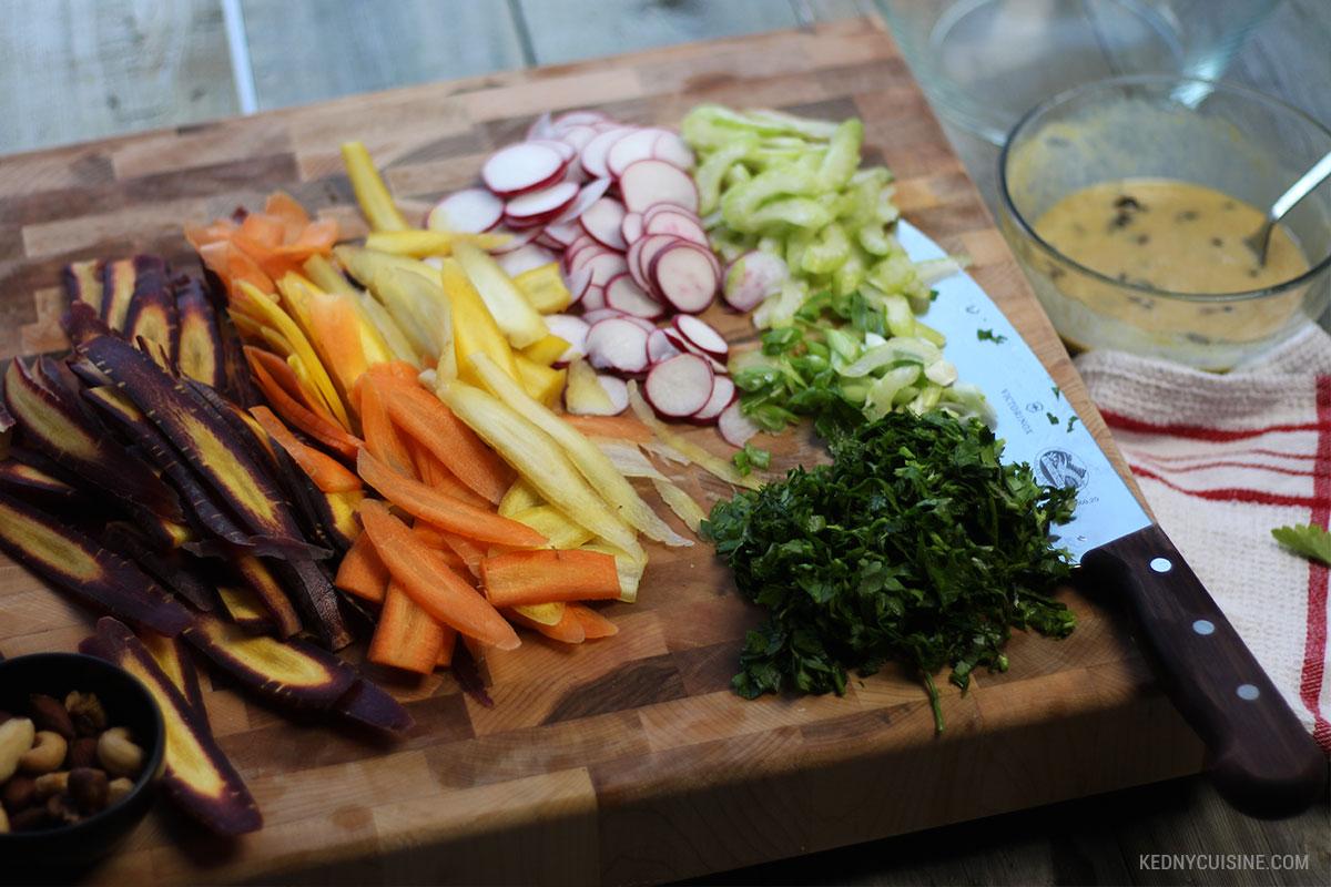 Salade de carottes colorées et raisins secs - 3