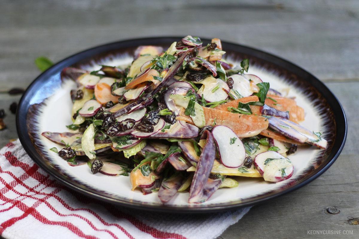Salade de carottes colorées et raisins secs - 4