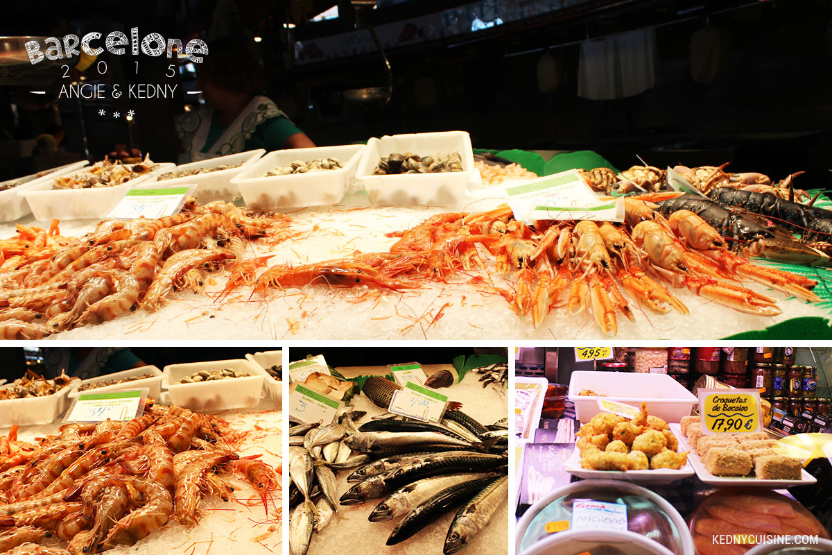 Barcelone 2015 - La Boqueria - Fruits de mer
