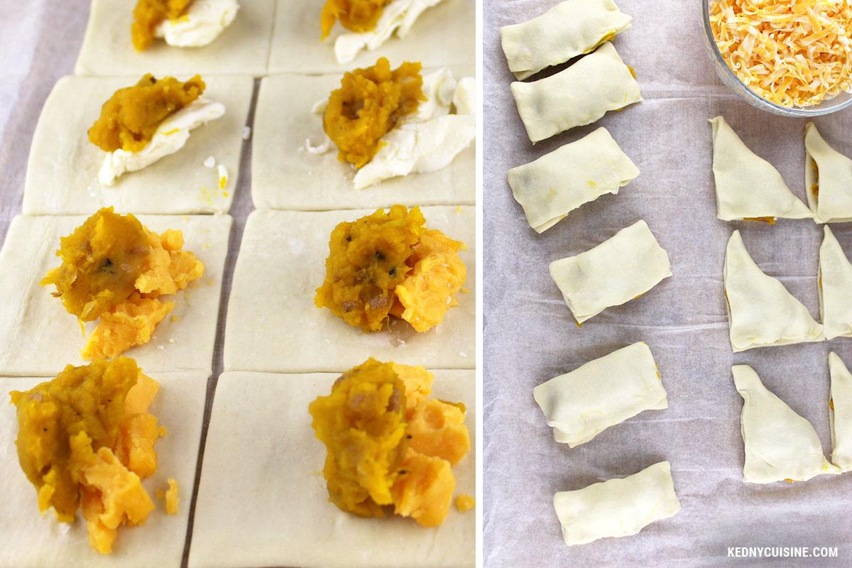 Bouchées feulletées à la courges et au fromage - KC 5