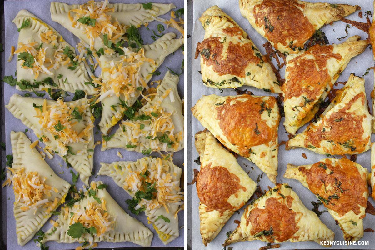Bouchées feulletées à la courges et au fromage - KC 6