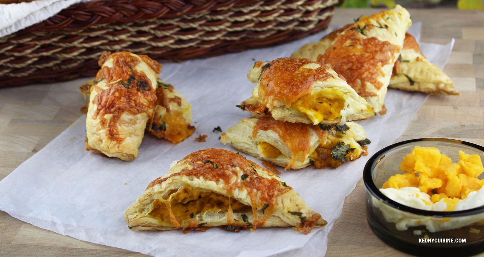 Recette - Bouchées feulletées à la courges et au fromage