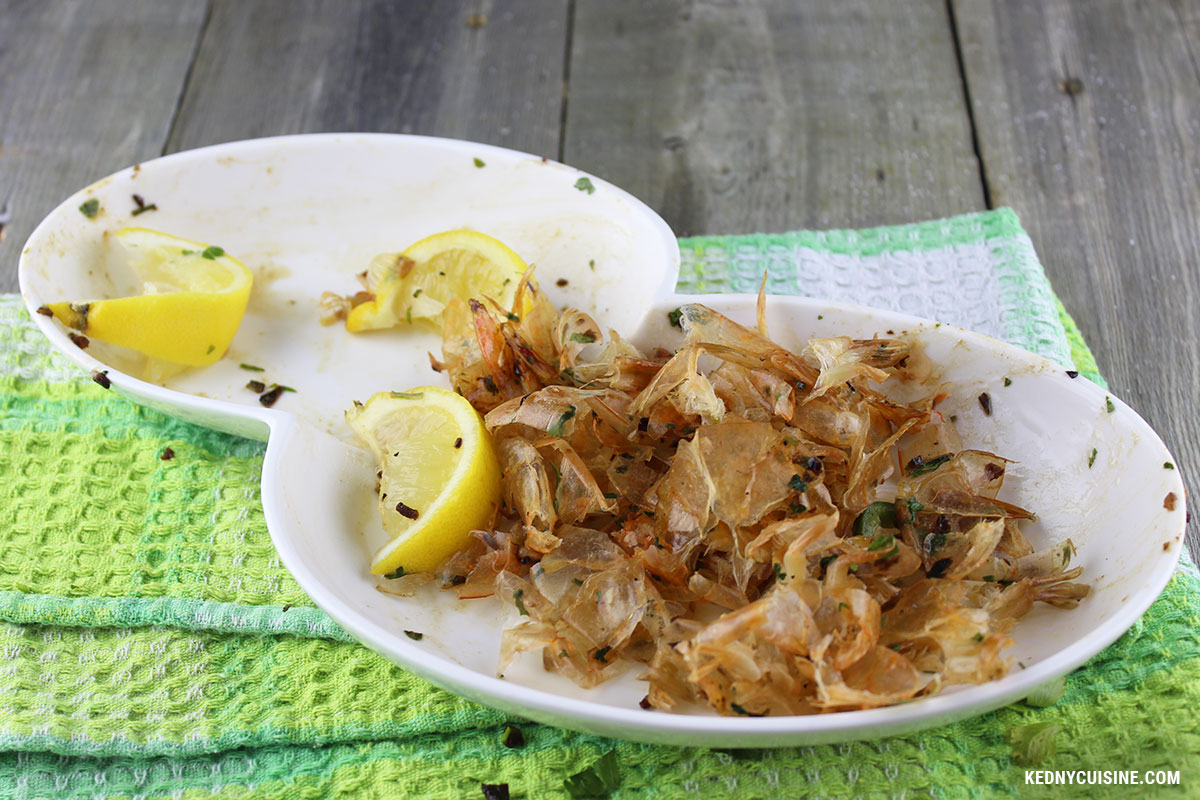 Crevettes sautées au salami et au rhum - 5