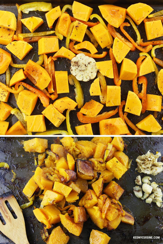 Potage à la courge, poivron et ail rôtis - KC 2