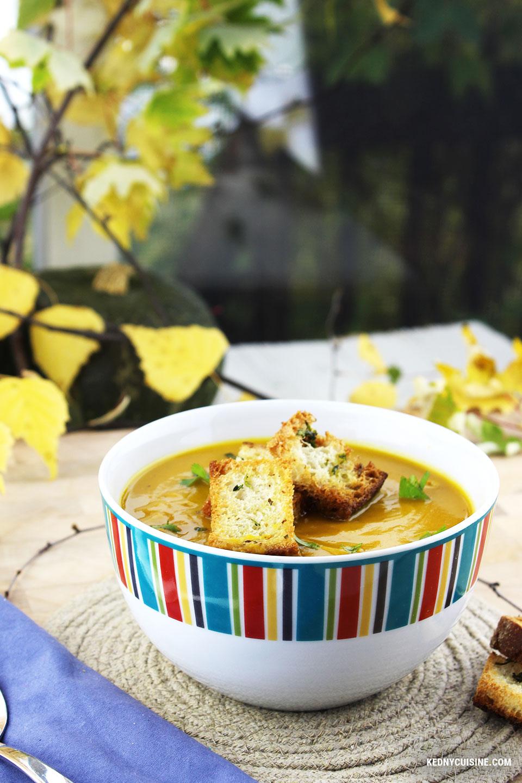 Potage à la courge, poivron et ail rôtis - KC 7