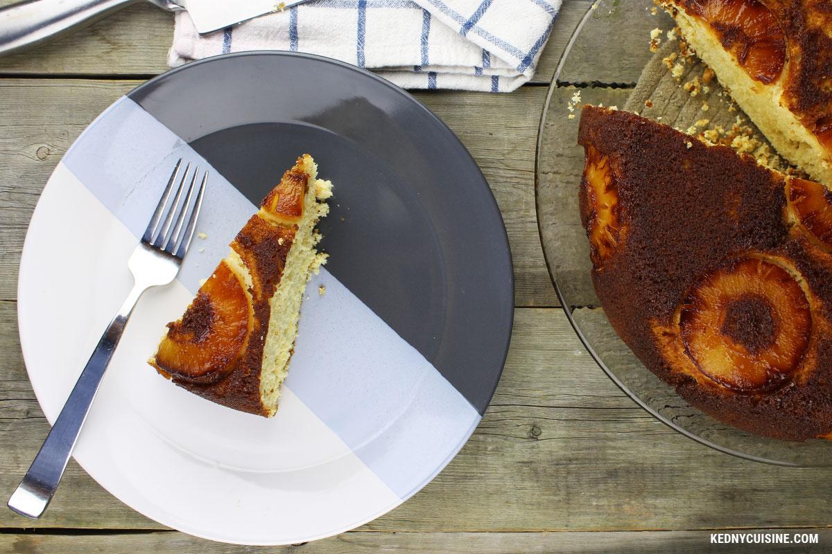 Gâteau renversé aux ananas - Kedny Cuisine - 3