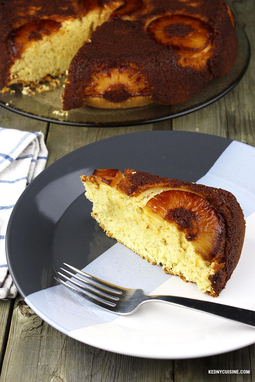 Gâteau renversé aux ananas - Kedny Cuisine - 4