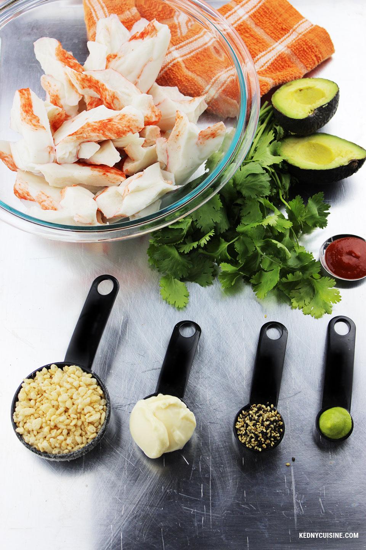 Salade de goberge épicée à saveur de crabe sur pita croustillante - 1