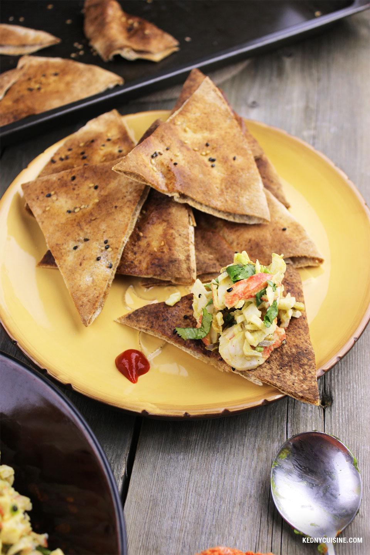 Salade de goberge épicée à saveur de crabe sur pita croustillante - 3