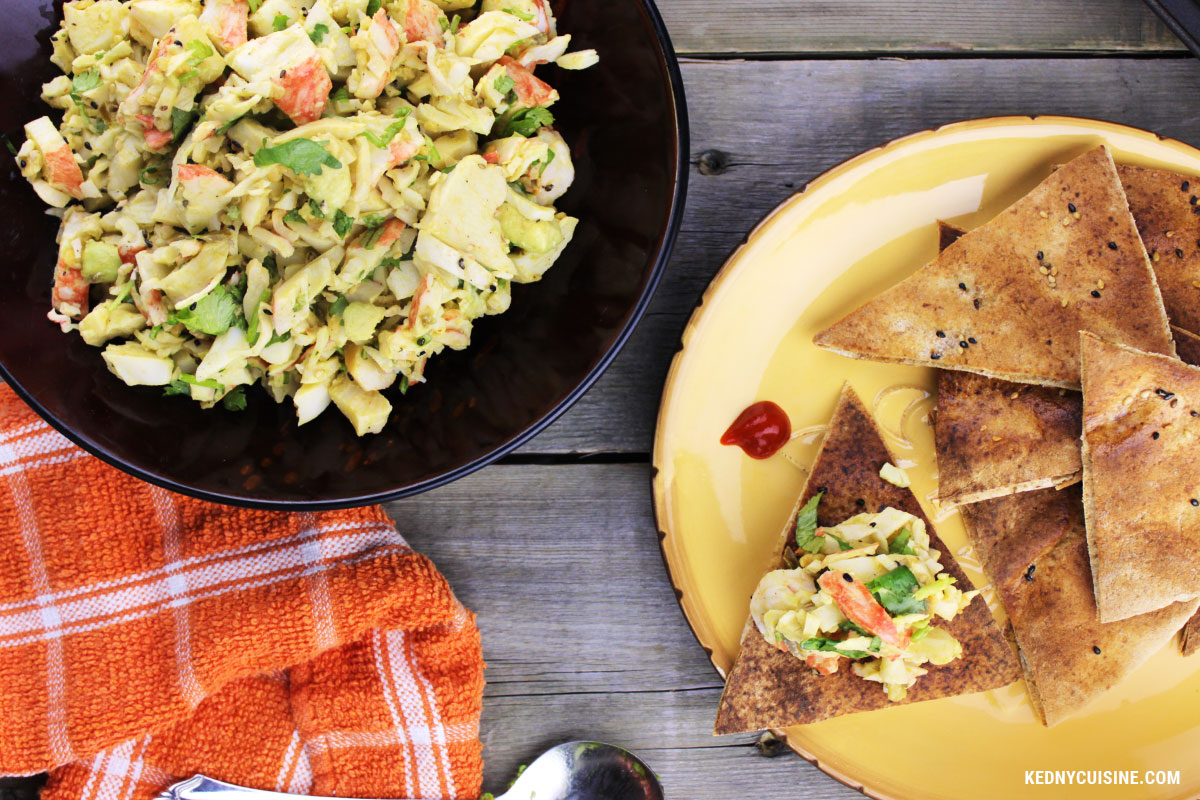 Salade de goberge épicée à saveur de crabe sur pita croustillante - 4