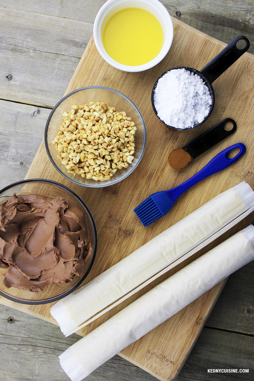 Spirale feuilletée au fromage chocolaté - 1