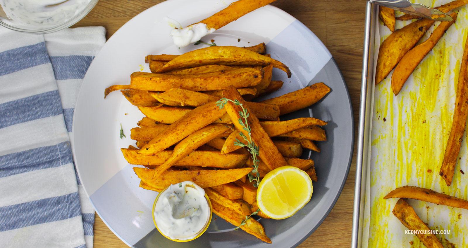 Frites de patates douces exotiques