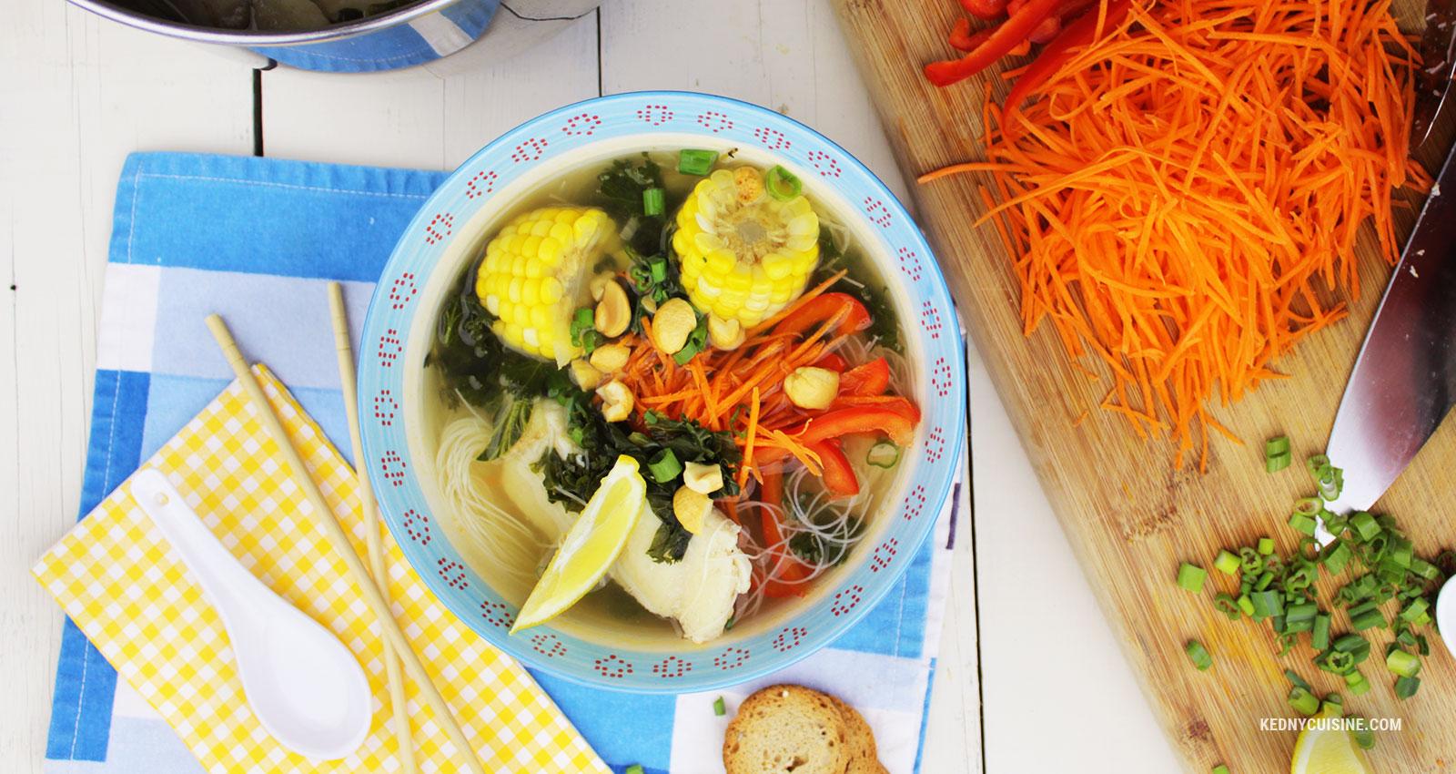 Soupe de poisson asiatique super simple et santé