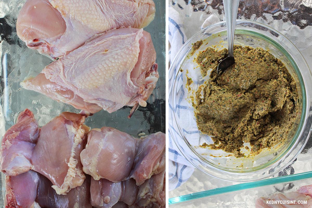 Salade de cresson poulet et mangue grillés - Kedny Cuisine 1