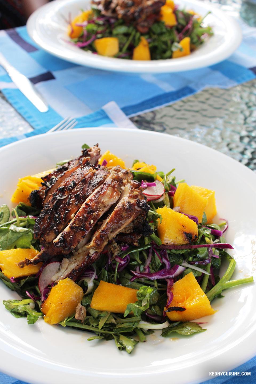 Salade de cresson poulet et mangue grillés - Kedny Cuisine 6