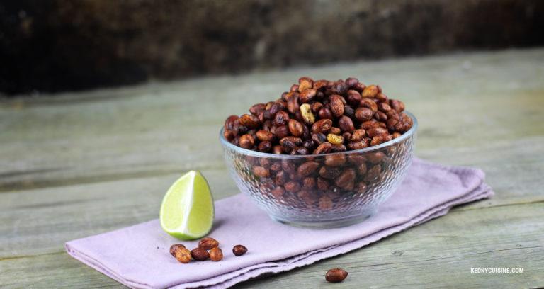 Arachides grillées épicées et à la lime - Kedny Cuisine