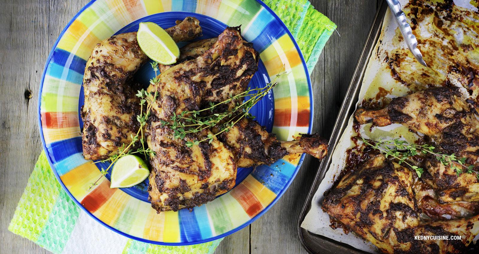 Cuisses de poulet jerk