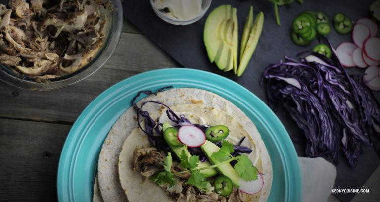 Taco au poulet jerk - Kedny Cuisine